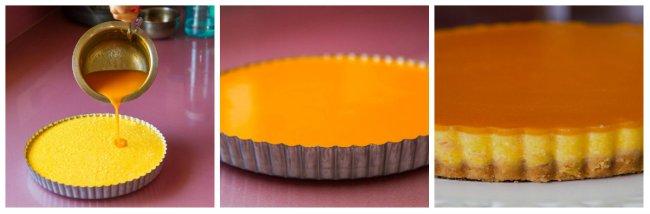 Mango cheesecake in the making