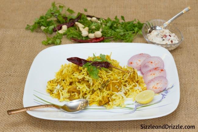 Bengali Chicken tikka Biryani