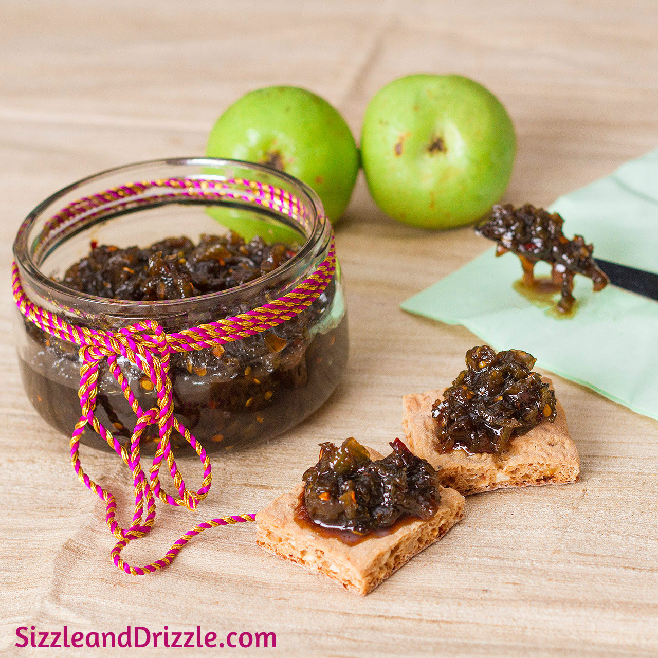 Green Tomato Jam | Sizzle and Drizzle
