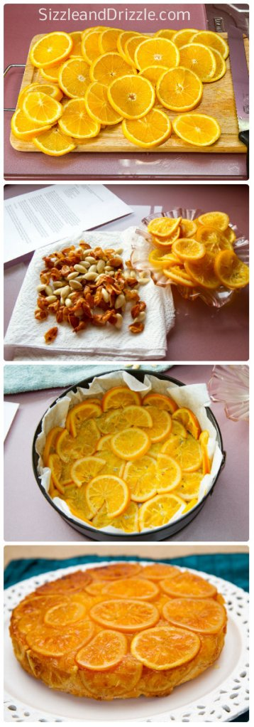 Orange cake collage