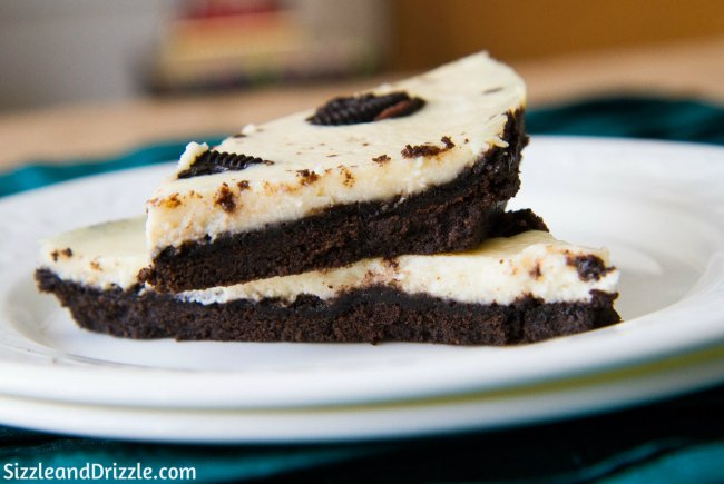 Oreo crust cheesecake
