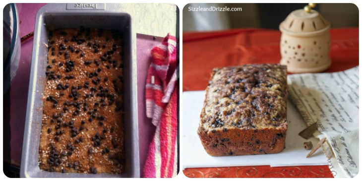 Cinnamon before and after cake