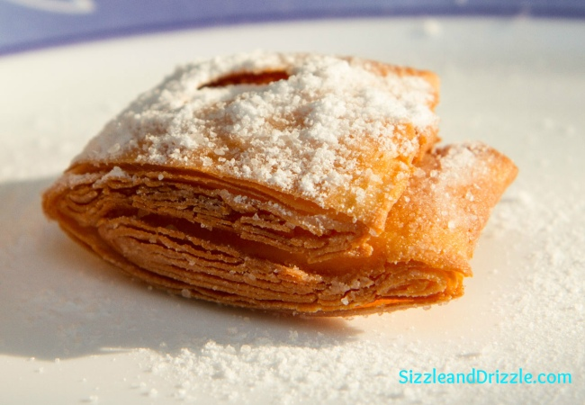 When still hot, sprinkle with powdered sugar generously