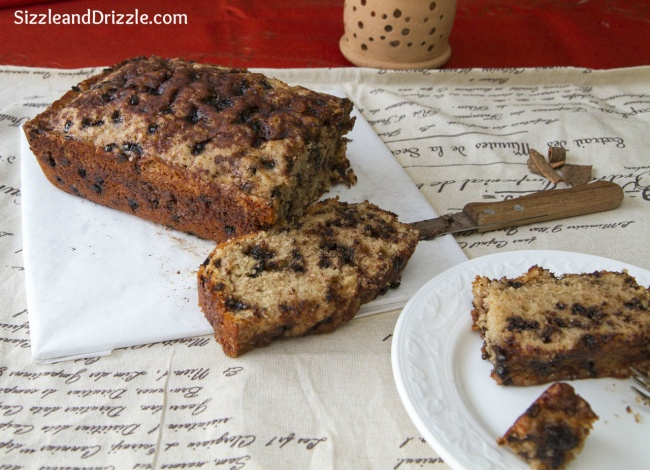 Cake Loaf Recipe Quick: Cinnamon Chocolate Chip Loaf Cake
