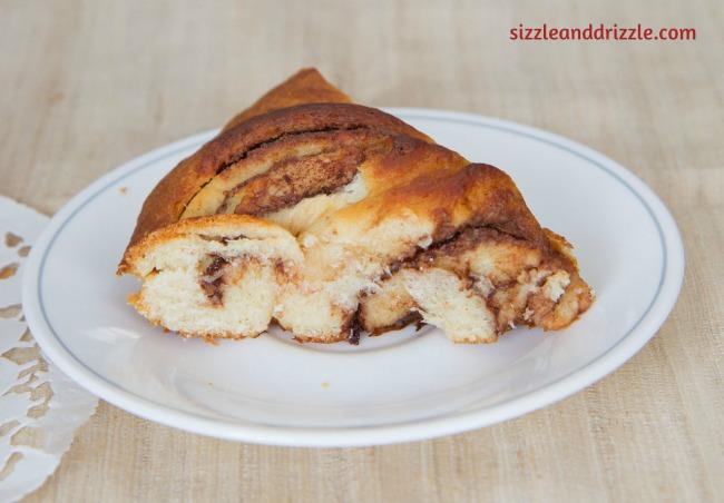 Slice of the Nutella bread