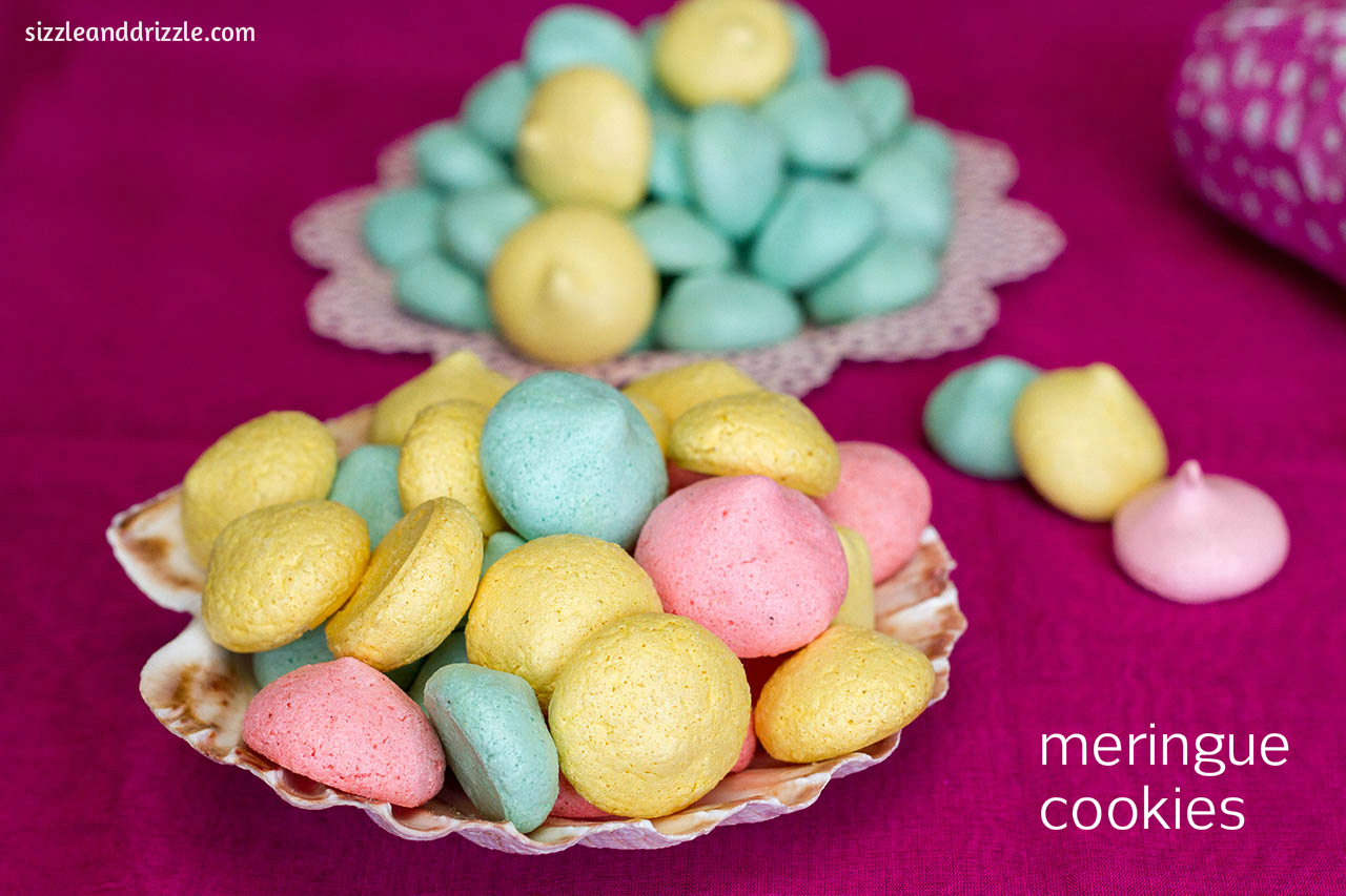 Merry Christmas Meringue Cookies With White Chocolate ...