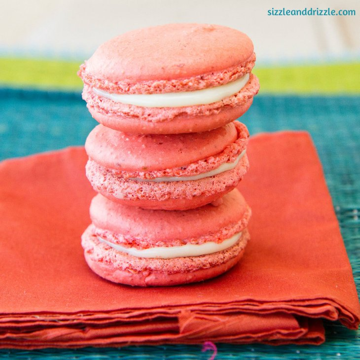 Macarons on top