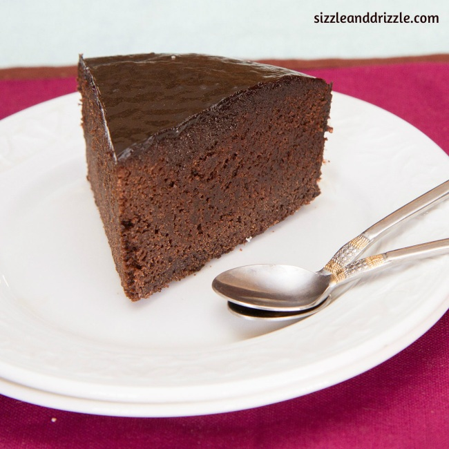 Piece of chocolate mud cake