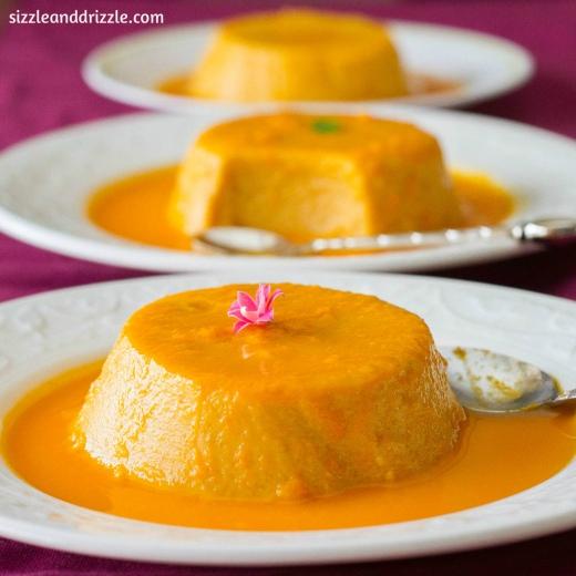 Flan de mango