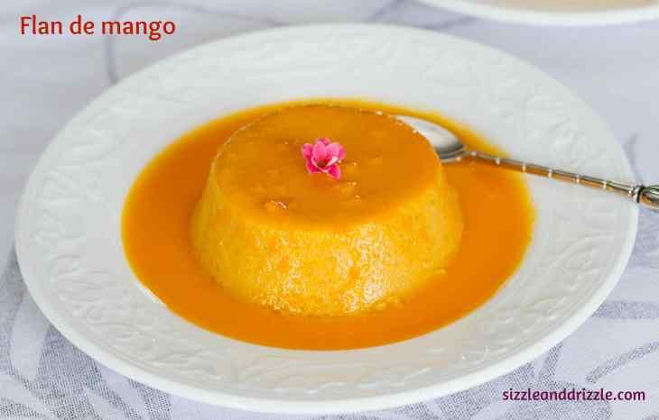 Mango flan single serving