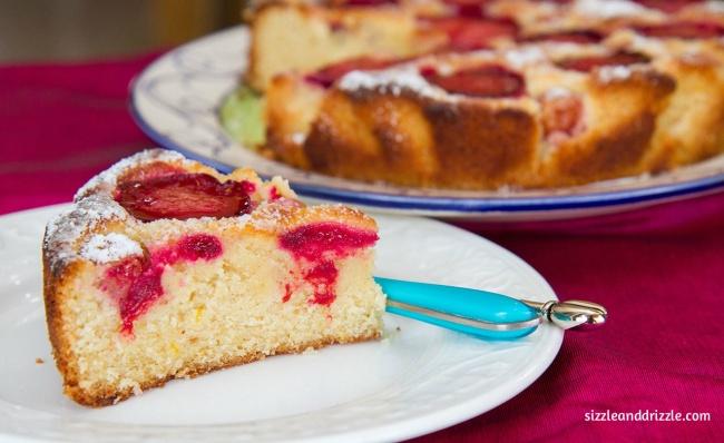 A platter of plum cake