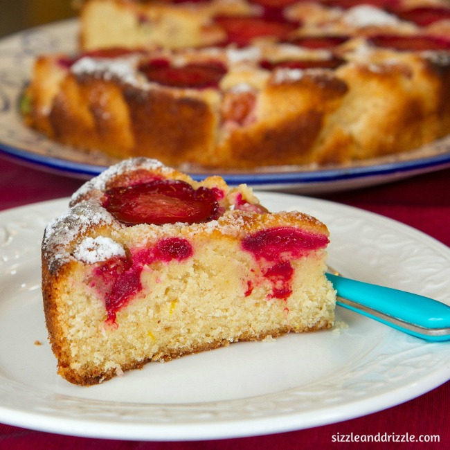 A slice of plum cake
