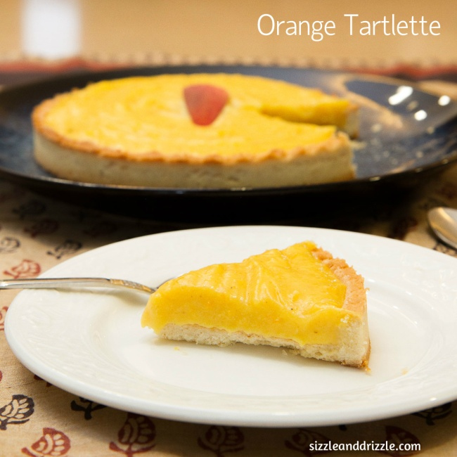 Orange tartlette piece