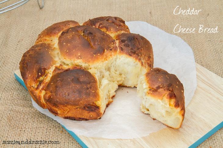 Fancy shaped cheddar cheese bread