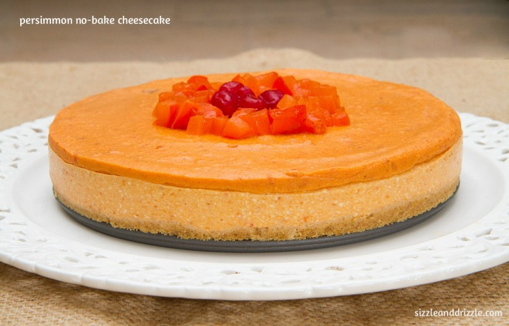 Side view of Persimmon cheesecake