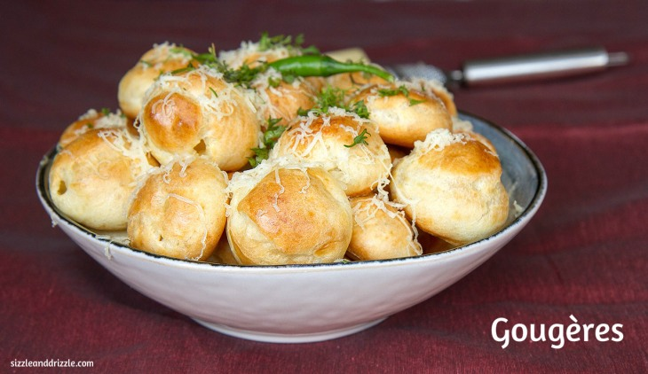 Gougères with cheese