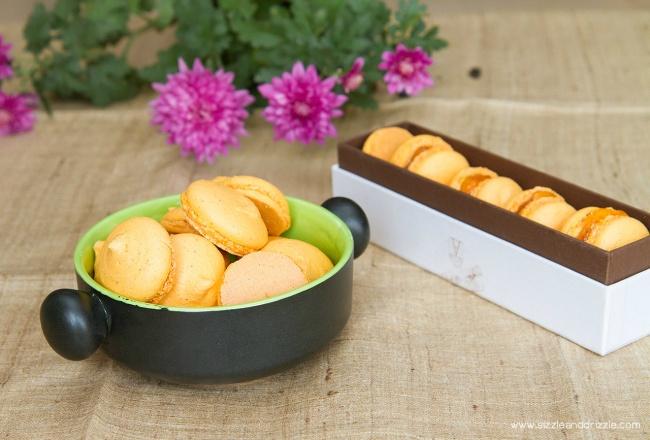 Macaron shells and filled macarons