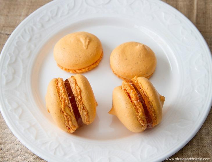 Macarons on a plate