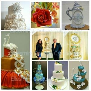 Couture cakes @ Ellesmira and at Colette's studio, NYC.