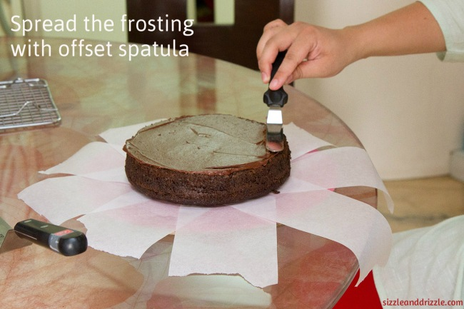 Frosting with spatula