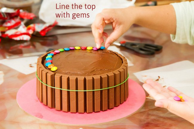 Decorate the top with colorful candies