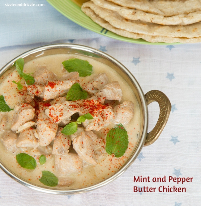 Mint and pepper butter chicken