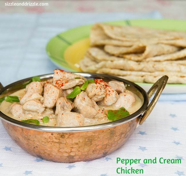Pepper and cream chicken
