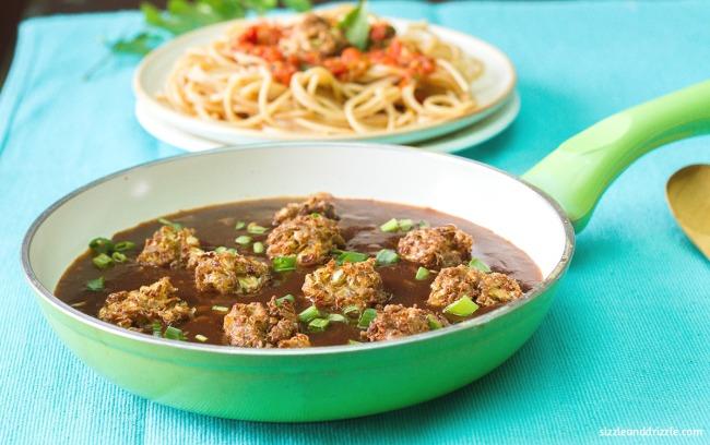 Manchurin gravy noodles
