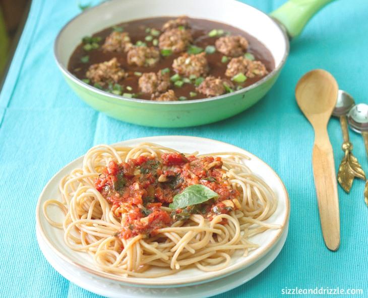 Noodles with marinara