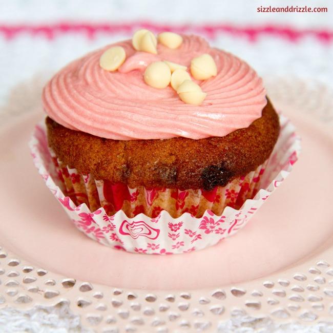 White choco chip cupcakes