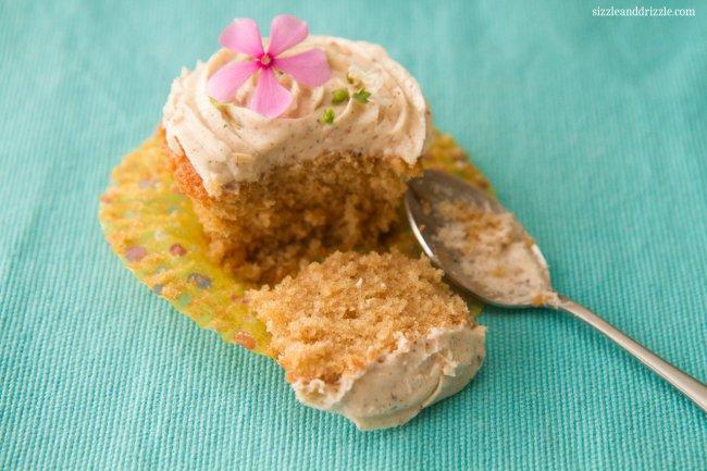 Crumb of chai cupcake