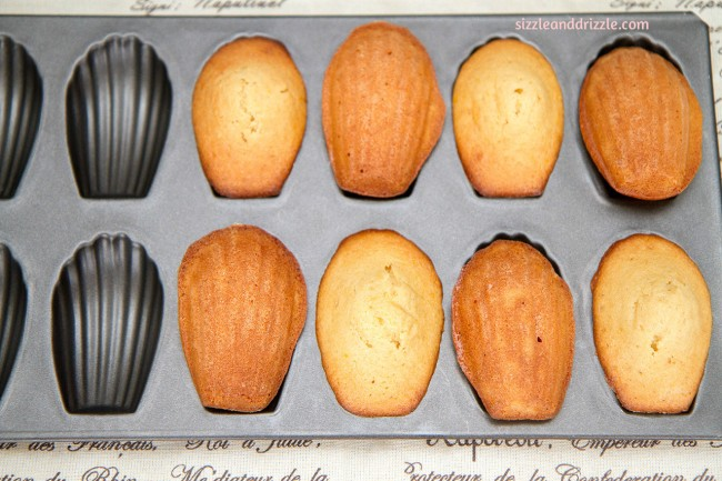 Madelines in shell pan