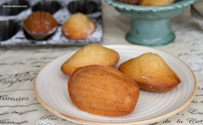 Madelines with honey