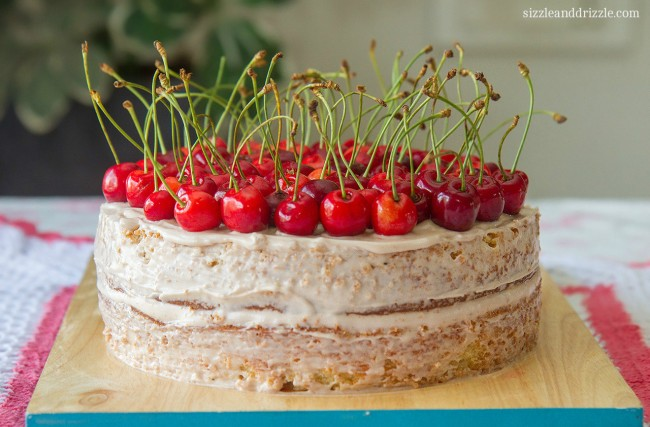 Cream Cheese pound cake with cherries