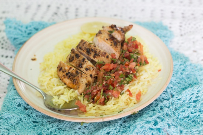 chicken-with-salsa-and-rice