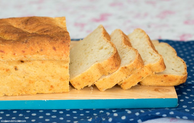 Pepper Cheese loaf cut