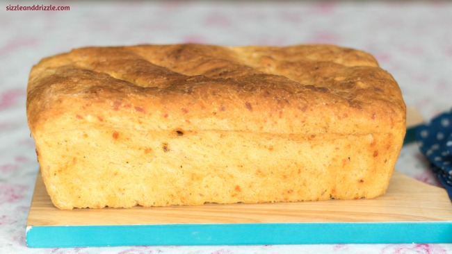 Whole loaf of pepper cheese bread