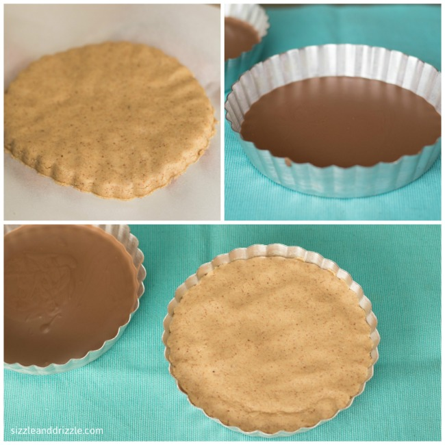Making of peanut butter tart