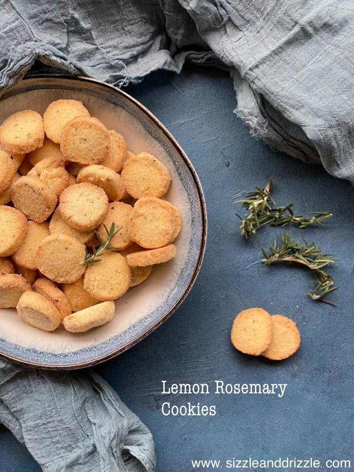 Rosemary Lemon Cookies recipe. Very easy and wonderful flavour of lemon zest.